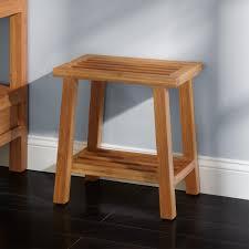 freestanding bamboo slotted bathroom stool  bathroom bathroom