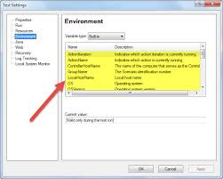 environment variable in qtp uft with
