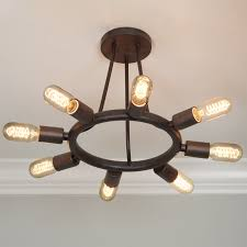 exposed ceiling lighting. Industrial Exposed Bulb Ceiling Light Bronze Lighting Y