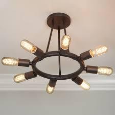 exposed bulb lighting. industrial exposed bulb ceiling light bronze lighting
