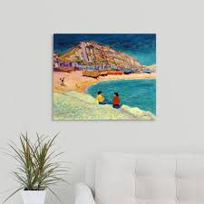 greatbigcanvas hastings beach scene by robert tyndall canvas wall art on beach scene canvas wall art with greatbigcanvas hastings beach scene by robert tyndall canvas wall