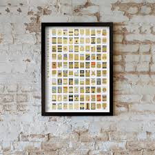 Pop Chart 100 Essential Novels Awesome Scratch Off Poster Keeps Track Of What Books Youve