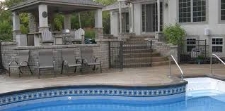 stamped concrete pool patio. Stamped Slate Concrete Patio Pool