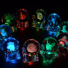 3d crystal pokemon ball elf night bedroom rgb color desk
