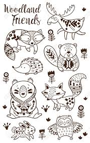 Coloring Pages Woodland Animal Coloring Pages Free Printable Cute