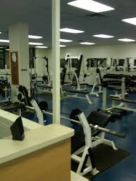 a fitness center in a ymca