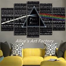 5piece canvas painting calligraphy pink floyd rock music wall art poster printed pictures home decor pop on pink floyd wall decor with 5piece canvas painting calligraphy pink floyd rock music wall art