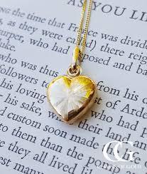 9ct yellow gold heart locket pendant chain
