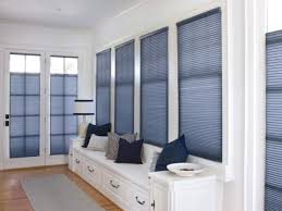 ... Blue Rectangle Modern Cloth Window Cellular Shades Stained Design:  Amusing window cellular shades ...