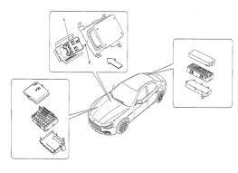 maserati ghibli v6 3 0 4wd 2014 > electrical ignition order maserati ghibli v6 3 0 4wd 2014 relays fuses and boxes diagram