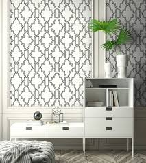 NextWall Black and White Tile Trellis ...