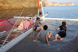 Dream Catcher Boat Santorini relaxing after swimming on board the Dream Catcher Picture of 36