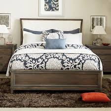upholstered sleigh beds. Park Studio Fabric Upholstered Sleigh Bed In Weathered Taupe Beds