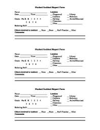 Incident Report Form Teaching Resources Teachers Pay Teachers