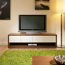 Television Tables Living Room Furniture Large Television Stand Cabinet Unit Walnut Off White 104