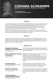 Engagement Manager Americas; Portfolio Strategy Resume samples