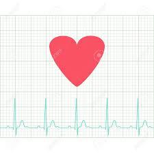 Ekg Medical Electrocardiogram On Grid Paper Graph Of Heart