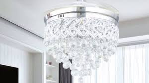 lighting decorative crystal chandelier ceiling fan 4 maxresdefault crystal chandelier ceiling fan combo