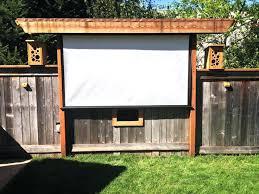 outdoor projector diy awesome outdoor screen ideas for summer backyard fun outdoor screens diy