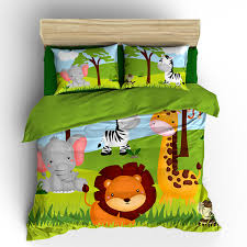 pkbed 00001 it s a jungle out there jungle animals theme bedding comforter duvet set kids