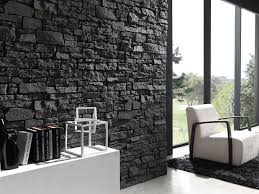 image of interior faux stone panels