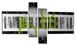 >stretched abstract oil painting canvas green grey black modern  stretched abstract oil painting canvas green grey black modern artwork handmade home office hotel wall art decor decoration free ship gift stretched