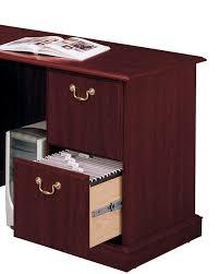 multiple drawers of various sizes provide optimal organization bush saratoga computer desk
