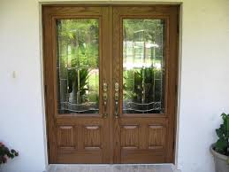 fiberglass double doors with 3 4 length elan inserts