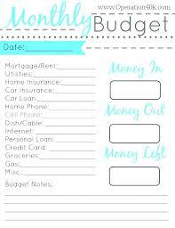 Printable Budget Worksheet 650 842 Printable Budget