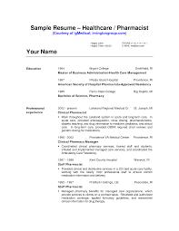 Example Ofharmacist Resume Free Worddf Hospitalharmacy Technician