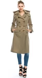 daisy women s double ted waterproof long trench coat
