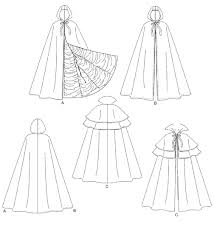 Cape Sewing Pattern Enchanting McCall's 48 Cape Costume Lined Or Unlined