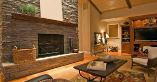 Living Room:Awesome Living Room Decoration With Brick Wall And Wooden Cofe  Table Plus Bookshelves