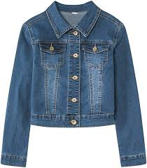 <b>YUKE Girl's</b> Denim Jacket Kid Embroidered Hole Denim Jacket ...