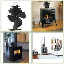 details about non electric eco friendly indoor heat powered fireplace wood burning stove fan