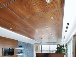 Image of: Contemporary Modern Wood Drop Ceiling Tiles