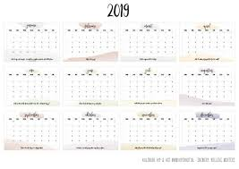 Free Printable Kalender Voor 2019 Hip Hot Blogazine