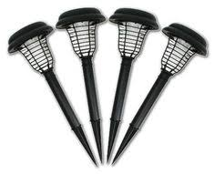 electric fly swatter mosquito bug zapper tennis racket kills solar bug zapper led and uv light set of 4 price 54 95