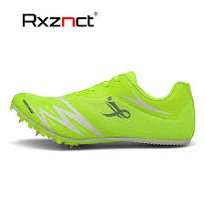 Rxznct Men Women Track And Field Shoes Outdoor Sport Spikes Sneakers Male Female Athletic Footwear Teenagers Race Run Shoes Pancang Sukan Luaran