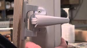 How To how to fix a door knob latch pics : Repair Storm Door Latch — The Homy Design