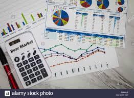 Rnn Stock Chart Bear Market Still Life Business Finance Concept With Stock