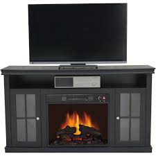 contemporary decoration decor flame electric fireplace for tvs up to 70 black