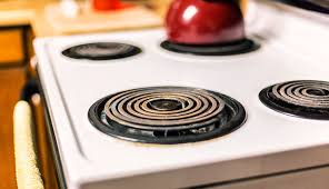 corroded kitchen electric range cooking stovetop circular burners