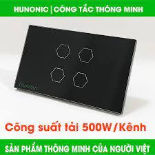 CÔNG TẮC CẢM ỨNG WIFI HUNONIC 3 NÚT TRẮNG│Điều khiển từ xa qua điện thoại│Công  tắc điện thông minh cao cấp hàng Việt Nam