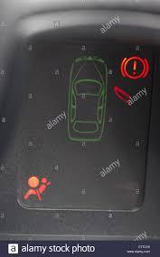 Airbag Warning Light Mot Car Instrument Warning Panel Showing Door Open Handbrake And