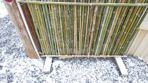 Patio Privacy Fence Bamboo Fence Screen Is Easy To Build Youtube