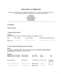 Curriculum Vitae Medical Curriculum Format Template Resume Template