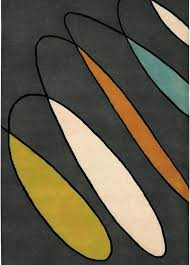 black and orange rug grey cream green blue brown