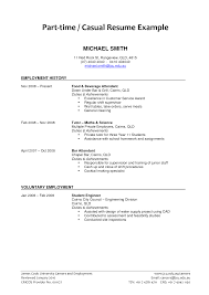 Sample Resume For Part Time Job No Experience Writing A Sle