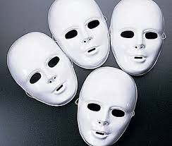 Plastic Masks To Decorate 60 White Full Face High Sheen Plastic Masks Masks to Decorate 7
